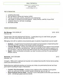 resume exles for bartender brewery bartender resume exle resume how to write the