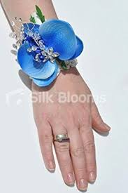 Blue Orchid Corsage Buy Midnight Blue Vanda Orchid Wrist Corsage W Pearl Brooch In