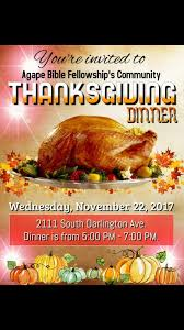 agape bible fellowship community thanksgiving dinner 94 1 kxoj