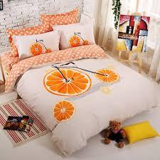 luxury bedding collections white and orange duvet covers orange