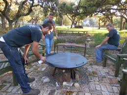 Custom Fire Pit Covers by Window On A Texas Wildscape Fire Pit Cover