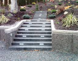 Retaining Wall Stairs Design Concrete Hardscapes For Hillside Homes Custom Concrete