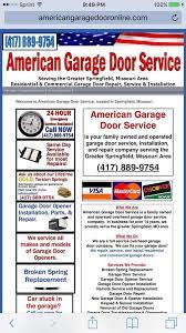 Overhead Door Company Springfield Mo American Garage Door Service 7 Photos 12 Reviews Garage Door