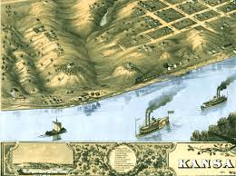 Map Of Kansas City Mo Kansas City Missouri In 1869 Bird U0027s Eye View Map Aerial Map