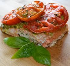 Fish Mediterranean Style Mediterranean Recipe Of Roasted Tomato Walnut Pesto Salmon Dr Janet