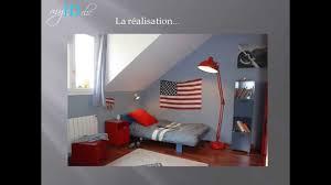 chambre etats unis déco chambre ado garçon drapeau usa