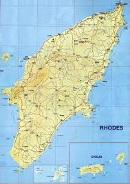 Greece Islands Map rhodes map map of rhodes island greece
