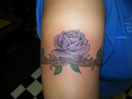 purple rose flower armband tattoo purple and black rose tattoos