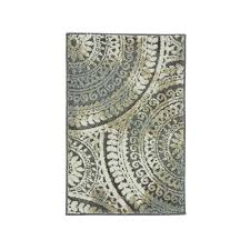 Beige And Gray Rug 2 X 3 And Smaller Area Rugs Rugs The Home Depot