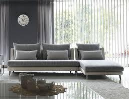 living room contemporary modular sofa furniture with grey fabric