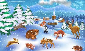 kids pages winter wild animals