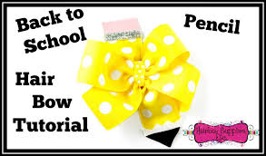hairbow supplies back to school hair bow tutorial pencil pinwheel hair bow