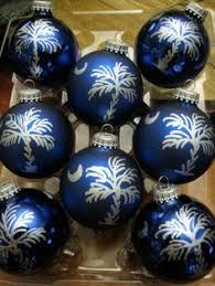 painted south carolina palmetto ornament