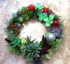 succulent wreath large faux succulent wreath with ferns handmade