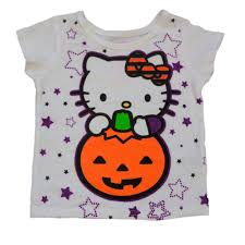 Halloween T Shirts For Girls Infant U0026 Toddler Girls White Hello Kitty Halloween Shirt Pumpkin