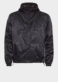 versace jacquard medusa hooded jacket for men uk online store