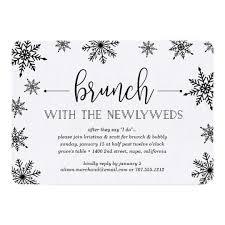 after wedding brunch invitation winter snowfall post wedding brunch invitation zazzle