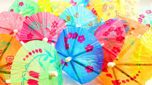 paper umbrella count colors and numbers contest learn colors