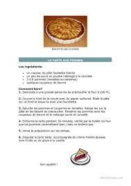 recette de cuisine recette de cuisine fiche d exercices fiches pédagogiques gratuites fle