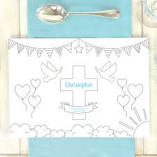 personalised christening colouring placemats chi chi moi