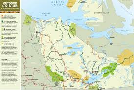 Arctic Circle Map Northwest Territories Travel Map