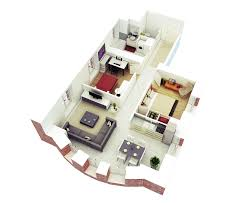 Small House Plans With Open Floor Plan 25 More 2 Bedroom 3d Floor Plans