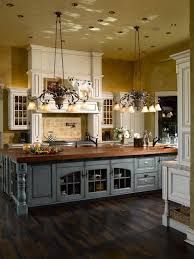 country kitchen with island large kitchen island with glass enclosed storage and wood