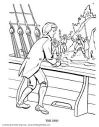 island coloring page treasure island pirate coloring pages boarding the hispaniola