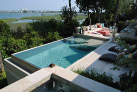 Infinity Pool Backyard by Custom Residential Swimming Pools Bradford Products