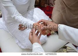 muslim wedding ring muslim wedding ceremony stock photo 427508155