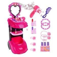 Little Girls Vanity Playset Play Vanity Sets For Little Girls Dress Up Makeup Accessory Mirror