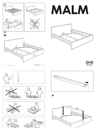 malm bed frame instructions home design ideas