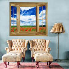 activities for elderly people with dementia and alzheimer s picture of through the window wall mural poppies