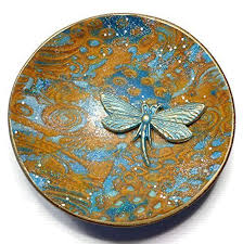 polymer clay home decor amazon com dragonfly ring dish handmade jewelry holder trinket