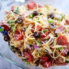 Pasta Salad Recipes With Italian Dressing Summer Italian Spaghetti Salad Recipe Reluctant Entertainer