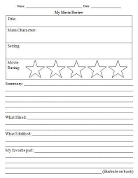 14 awesome movie review template worksheet images grade 1