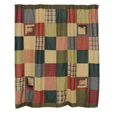 Cabin Shower Curtains Tea Cabin Shower Curtain Primitive Quilt Shop