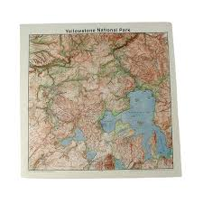 Map Of Glacier National Park Amazon Com The Printed Image Glacier National Park Bandanas