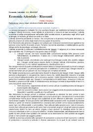 dispense di economia aziendale lezioni per esame appunti di economia aziendale