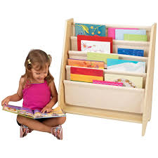 Toddler Bookcase Kidkraft 4 Shelf Primary Colored Sling Bookshelf With