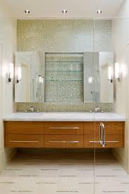 Robern Mirrored Medicine Cabinet Robern Medicine Cabinets Bathroom Contemporary With Wall Lighting