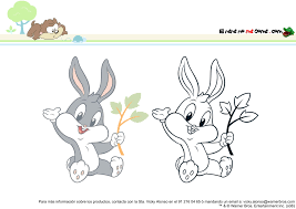 baby bunny lola dibujos colorear