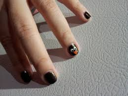 Thanksgiving Day Nail Black On Black Coloured Nails