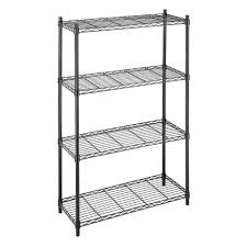Metal Wire Storage Shelves Whitmor Deluxe Rack Collection 36 In X 54 In Supreme 4 Tier Wire
