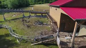 drone video branson mountain coaster damaged in storm