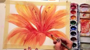 how to paint a flower with watercolor youtube