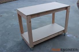 Plans For Building A Wood Workbench by Easy Portable Workbench Plans Rogue Engineer