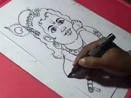 how to draw lord little krishna drawing for kids youtube