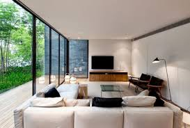 Modern Tv Room Design Ideas Simply Bedroom View Trought The Sliding Glass Door With The Glass