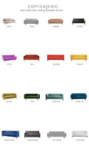 Home Trends MidCentury Sofas Under  Copycatchic - Midcentury sofas
